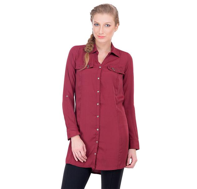 Women red casual shirt