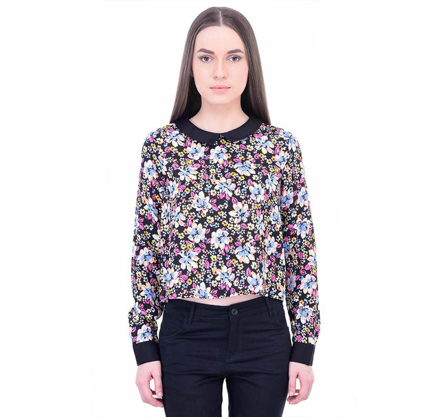 Women Floral Cropped Top