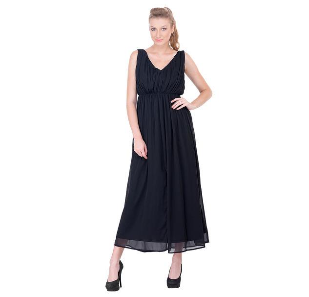 Women solid maxi dress