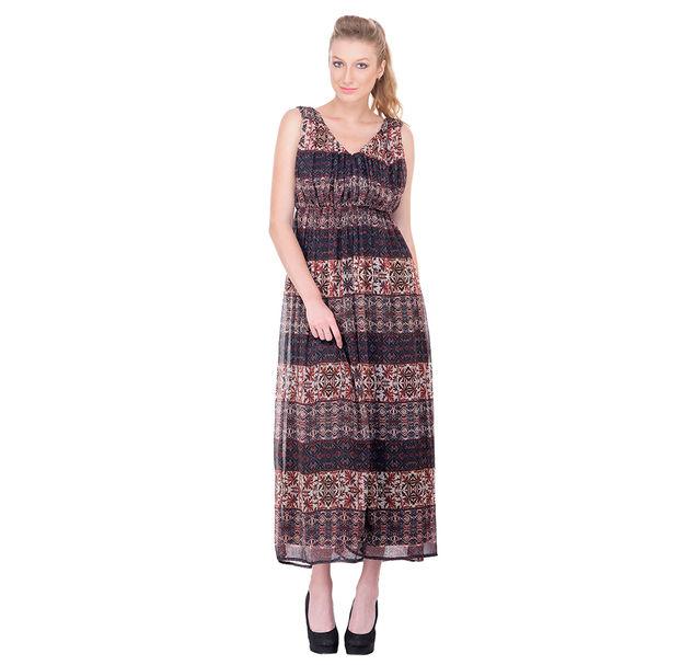 Women elastic maxi dress