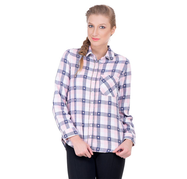 Women embellished cotton shirt