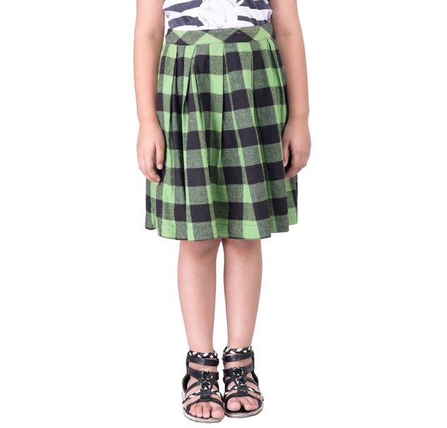 Girls Green Cotton Skirt