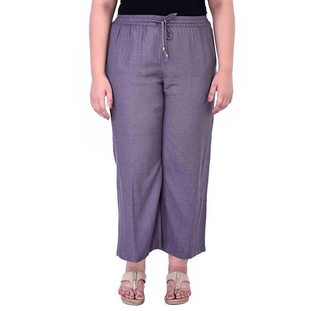 Plus Size Grey Pants