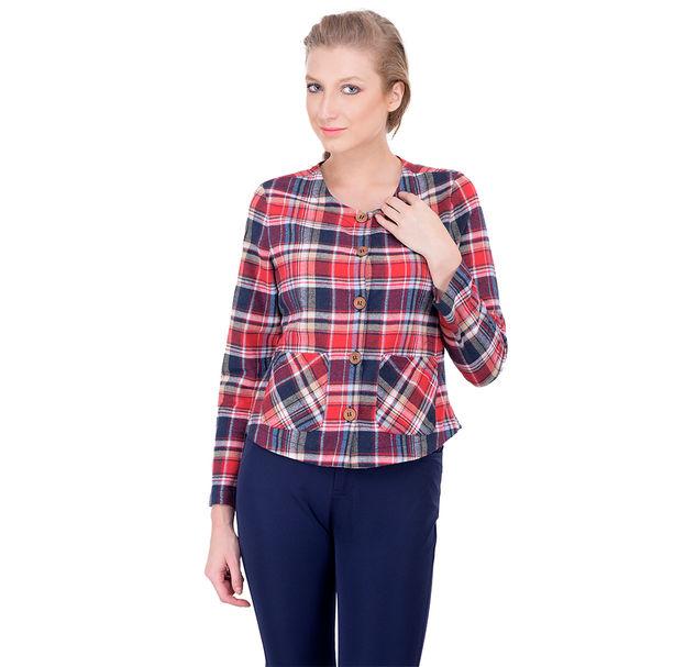 Women multi cotton blazer