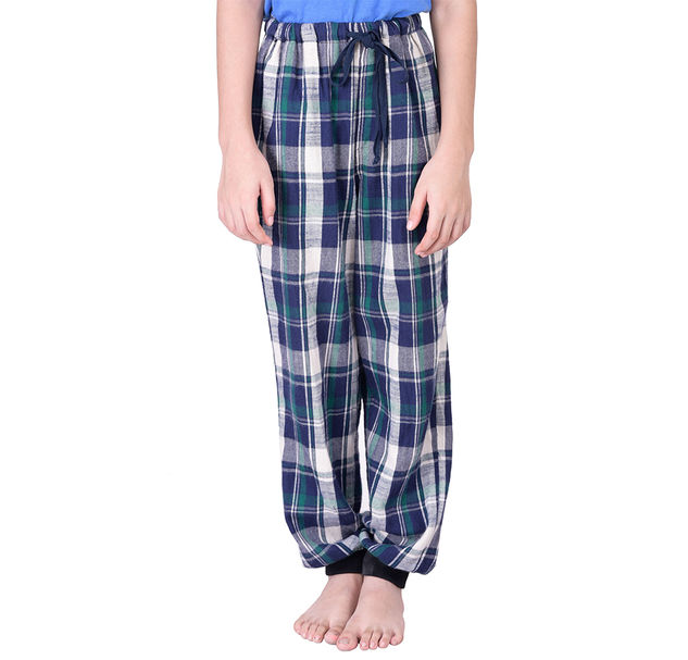 Boys Check Cotton Pyjamas