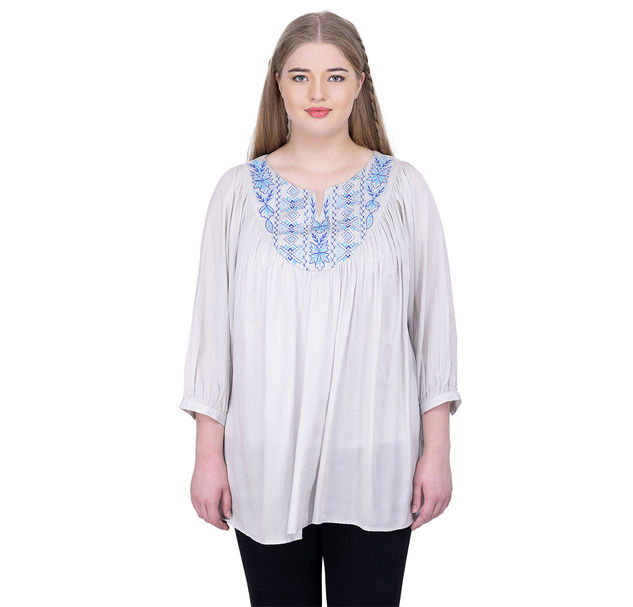 Plus Chic Embroidered Top
