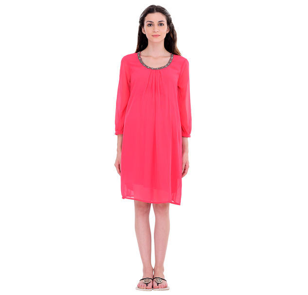 Maternity Pink Party Dress