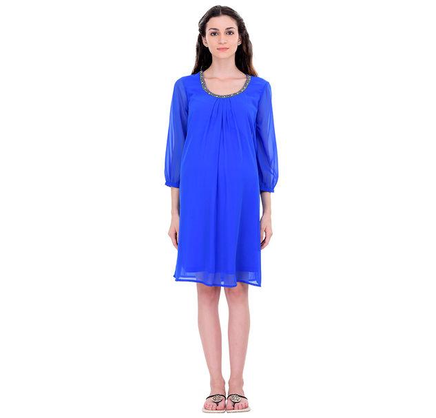 Maternity Blue Party Dress
