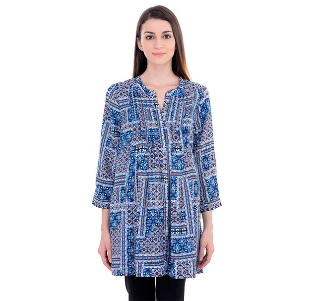 Maternity Floral Pleated Tunic