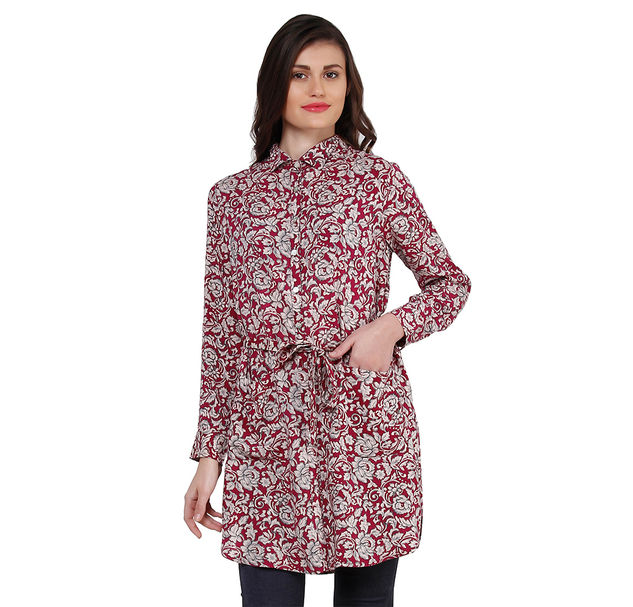 Women Floral Long Shirt
