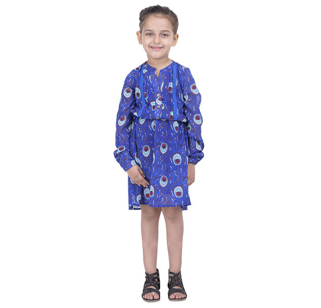 Girls Lace Peacock Dress