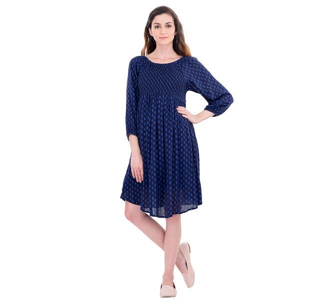 Maternity Navy A-Line Dress