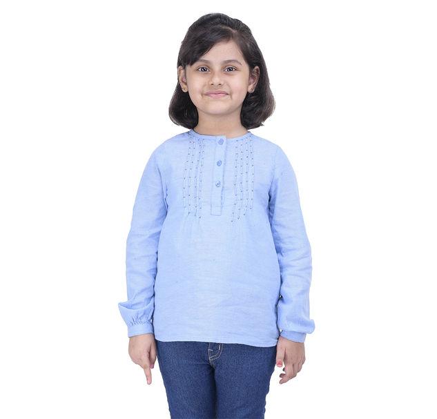 Girls Cotton Embellished Top