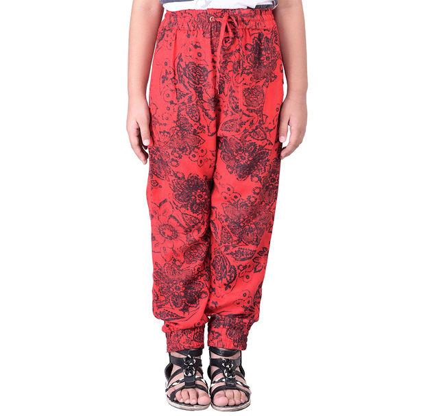 Girls cotton floral pants