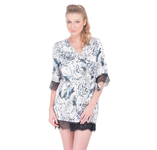 Women snakeprint nightwear robe