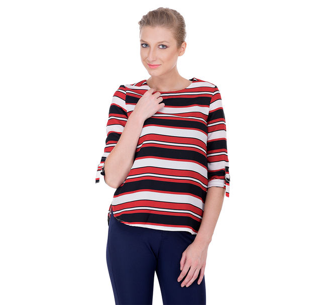 Women casual striped top