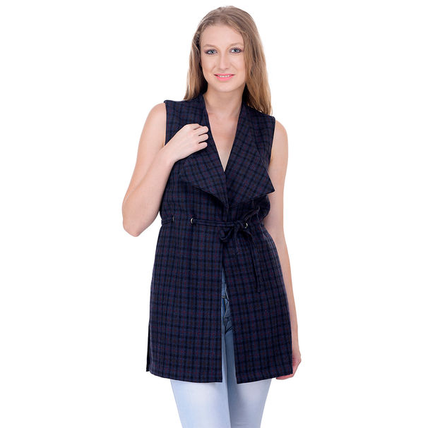 Women smart check jacket
