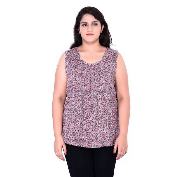 Plus Size Casual Floral Top