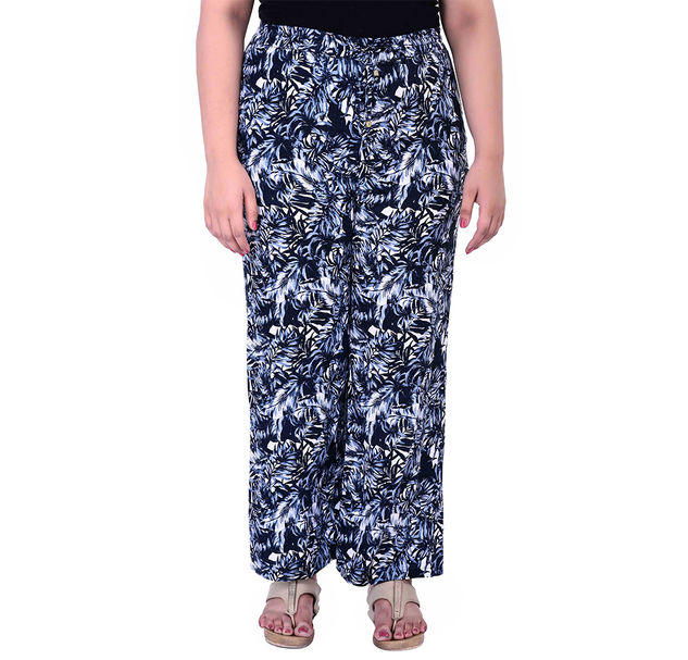 Plus Size Floral Pants