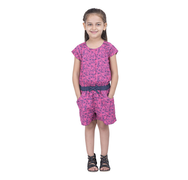 Girls butterfly print playsuit