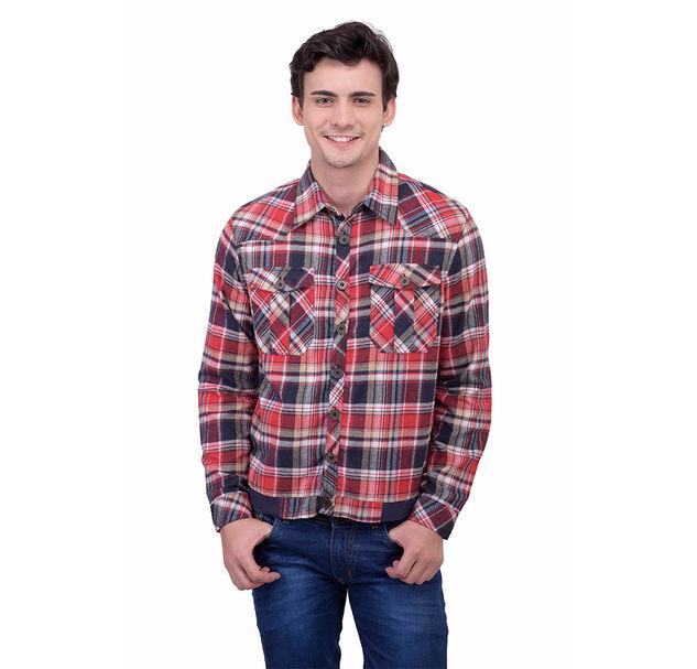 Men cotton multi jacket