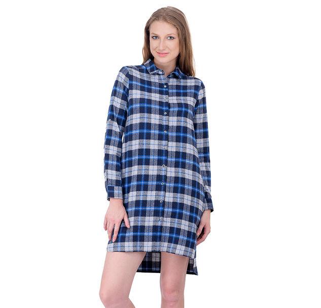Women check shirt dress