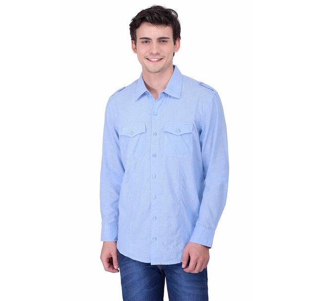 Men cotton blue shirt