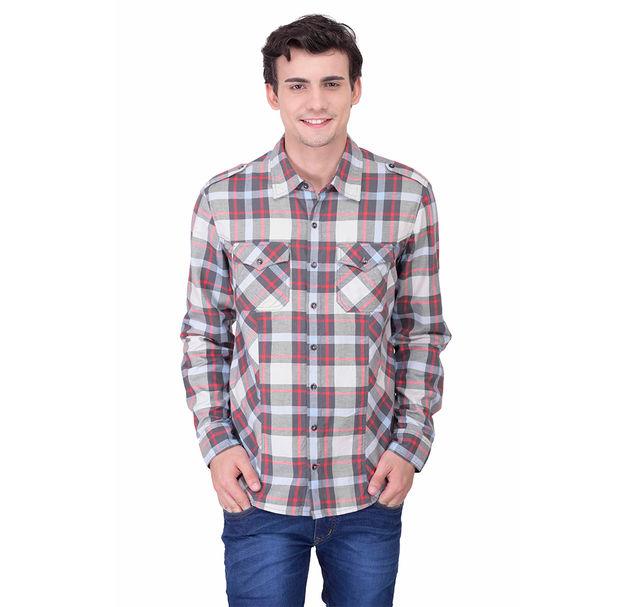 Men multi cotton shirt