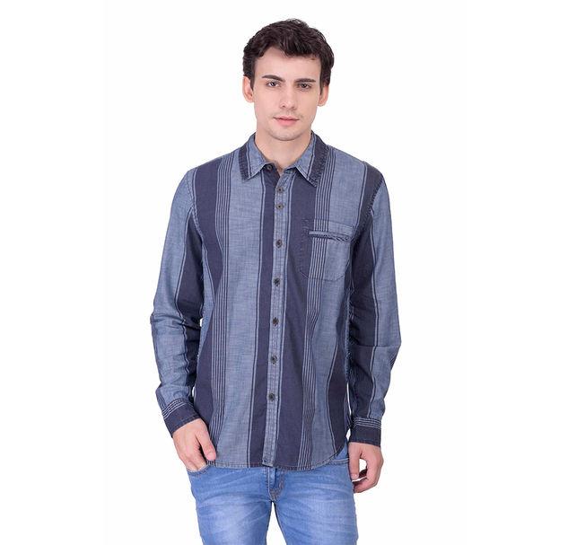Men cotton striped shirt