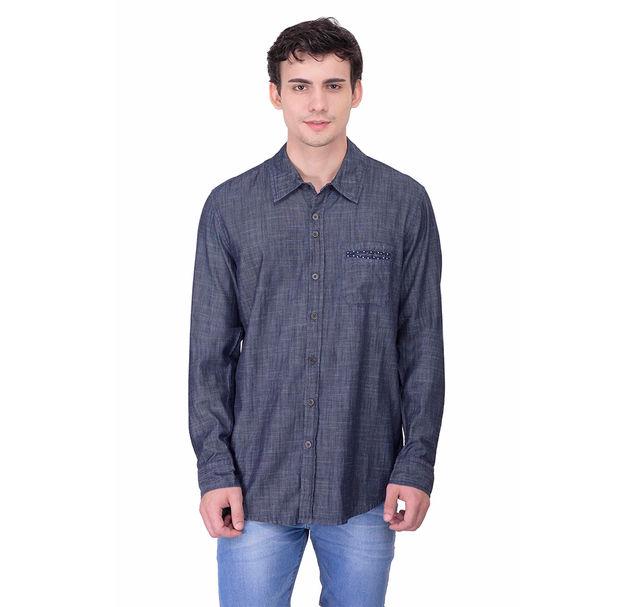 Men cotton grey shirt