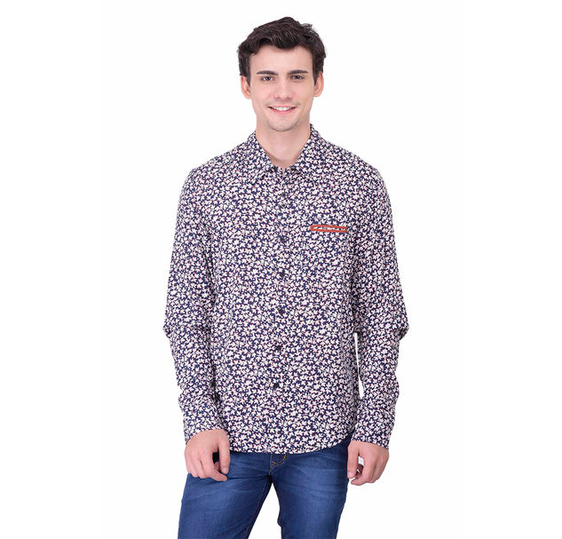 Men multi floral shirt
