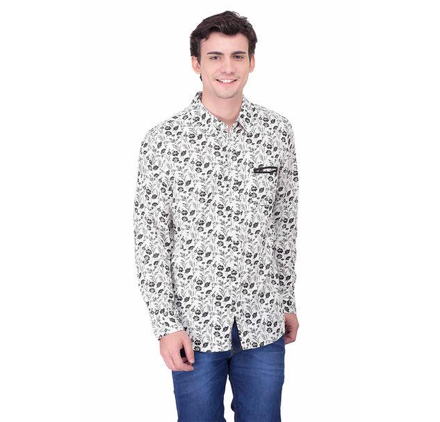 Men monochrome floral shirt