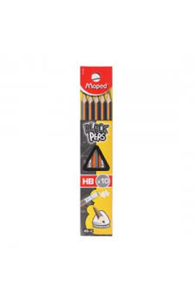 Black Peps Pencils Pack of 10