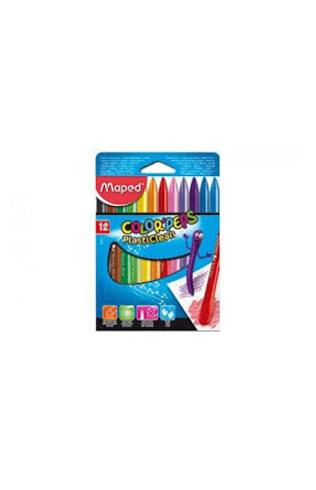 Maped COlorPeps Plasticlean - Triangular Plastic Crayons