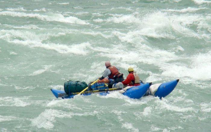 Rafting on Brahmaputra