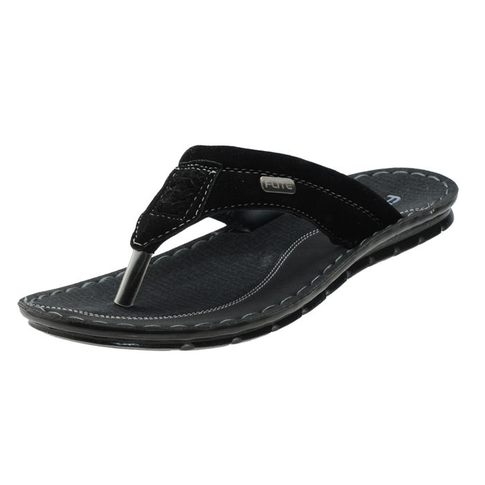 0d90e877f3e PU- FLITE BLACK GREY GENTS CASUALS SLIPPERS PUG-48