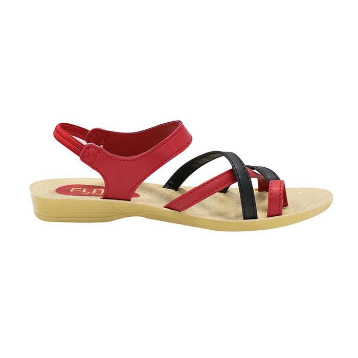 8528578adb106 Pu- Flite Blackred Ladies Casuals Slipperspul-80 | Pul-80