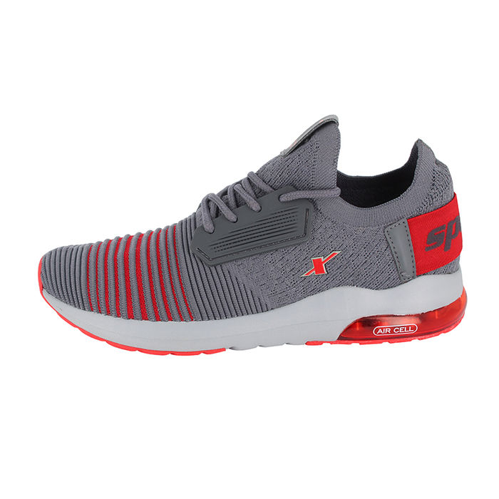 Sparx Grey Red Gents Sports Shoessm-442