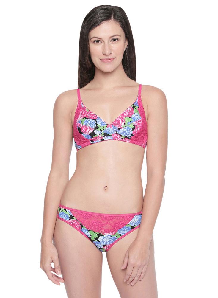 4036c8d292 BODYCARE Bridal Rani Bra   Panty Printed Lingerie Set - 6420-RA