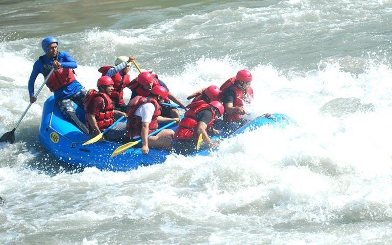 rafting on ganga alaknanda two days gio adventure