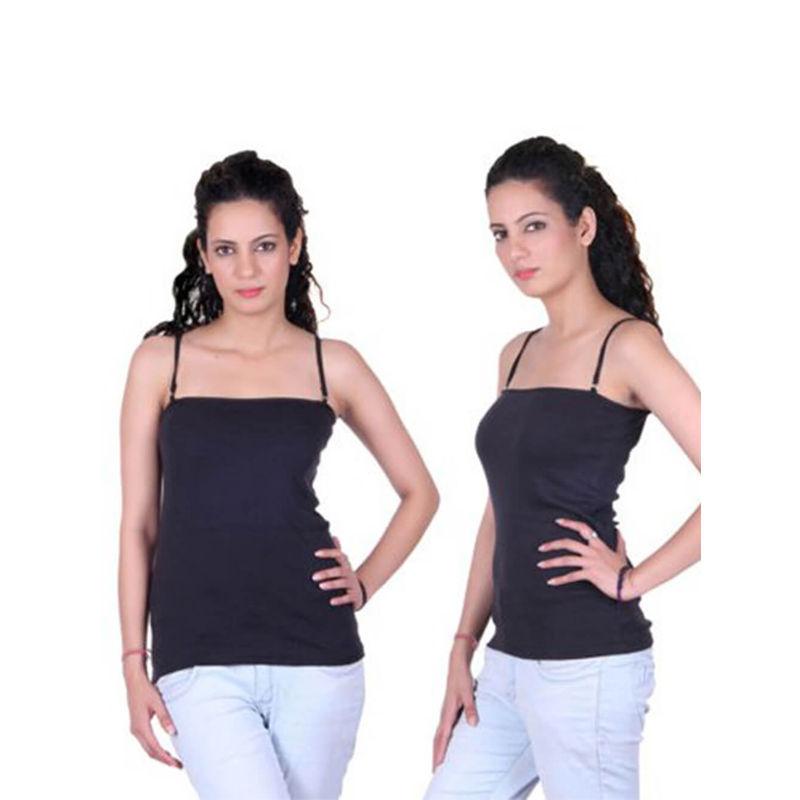 50071cb0364e58 Beautiful Black Pack Of 2 Ladies Camisoles