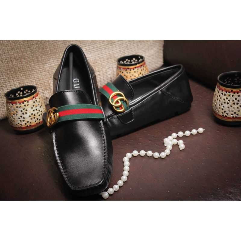 306823f7fa Buy First Copy Replica Gucci Leather Loafers Online India