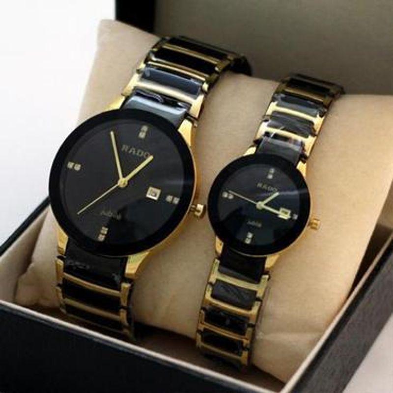 5b27b02bee Swiss Replica First Copy Rado Centrix Jubile Golden Couple Watch ...