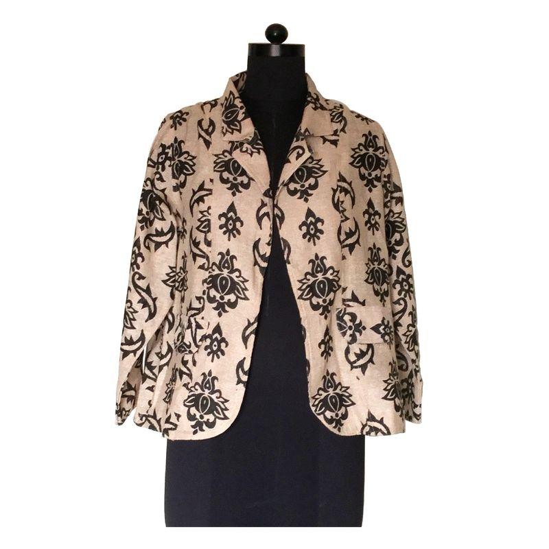 Thread Turner Floral Jute Jacket