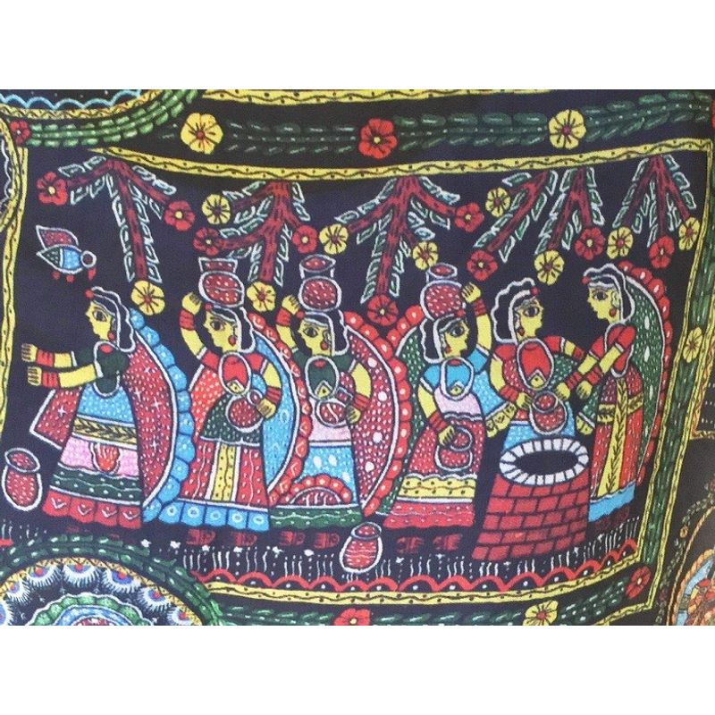 Thread Turner 'Life of Krishna' Scarf