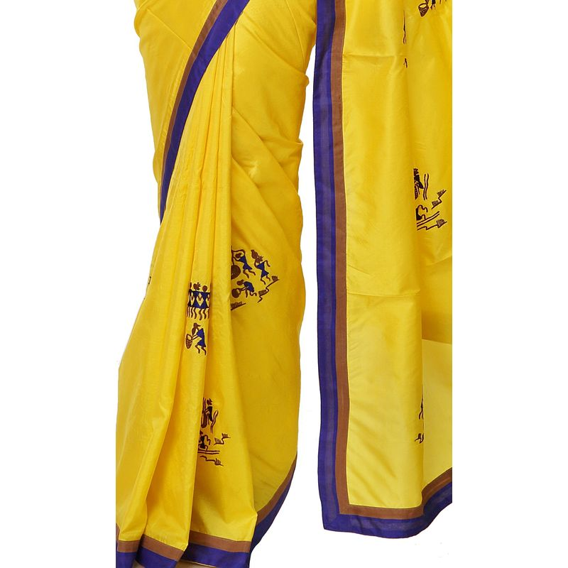 Tribal Series Silk Yellow Saree