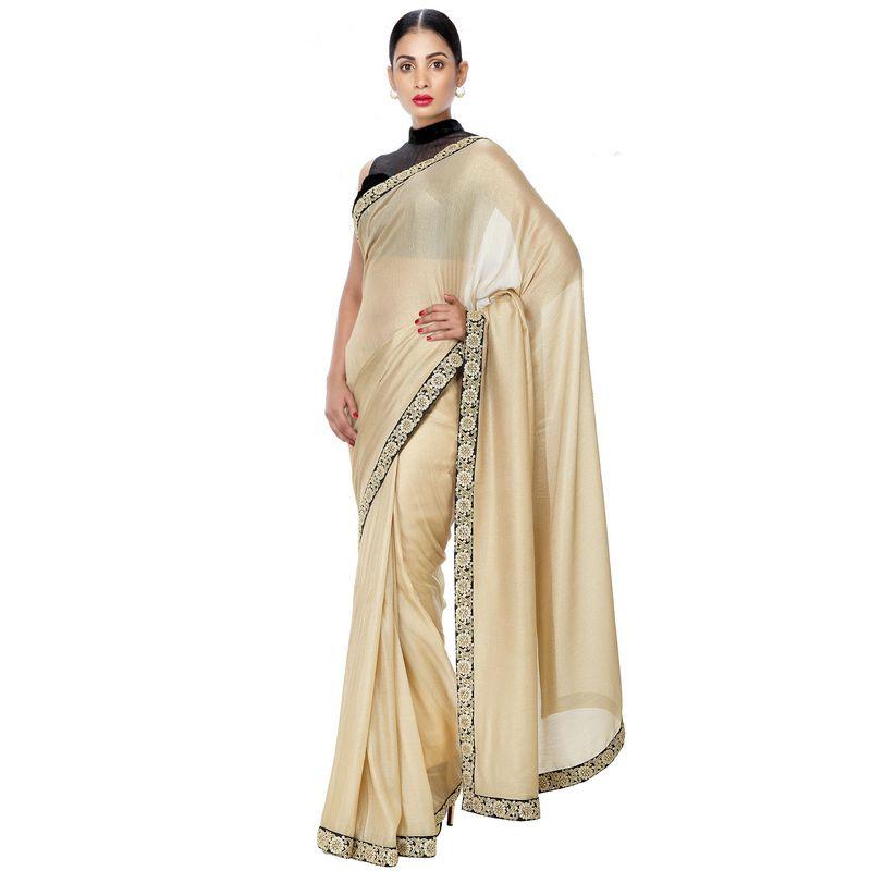 Heritage Series High-Fashion Georgette Gold Saree