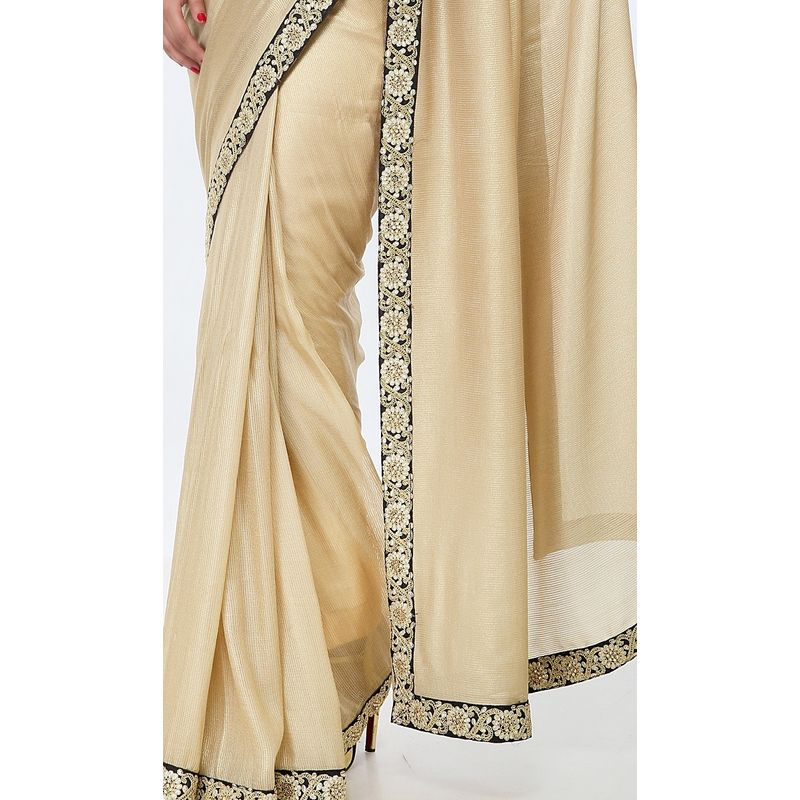 Heritage Series High-Fashion Georgette Gold Saree