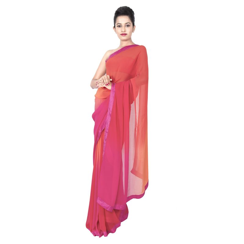 Georgette Ombre Festive - Party Sari
