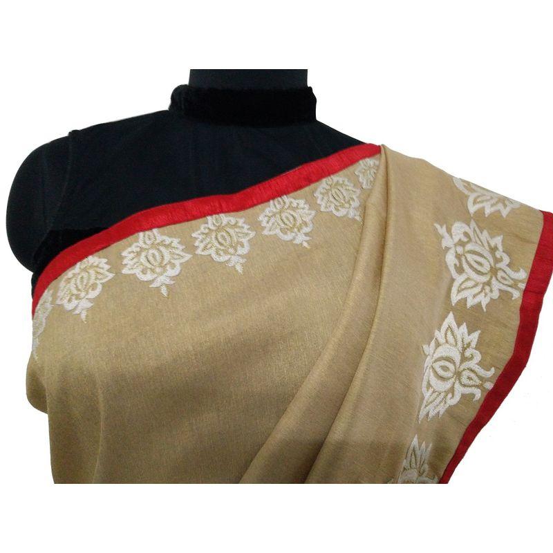 Bengal Alpona Sari Series - Tussar Black